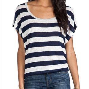 JOIE Linen Stripped T Shirt